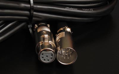 18' 7-pin xlr connector cable msrp $55 00 usd